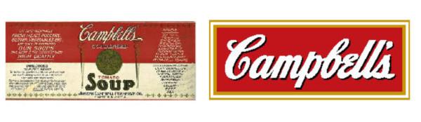 Cambiamenti del logo Campbell's