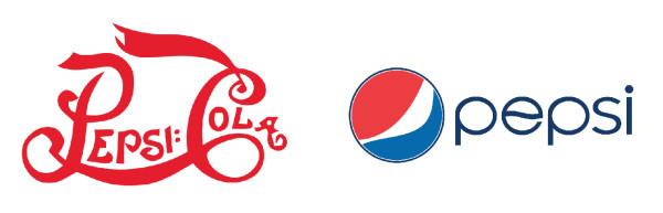 Cambiamenti del logo Pepsi