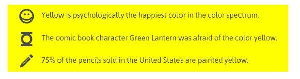 Psicologia del colore giallo