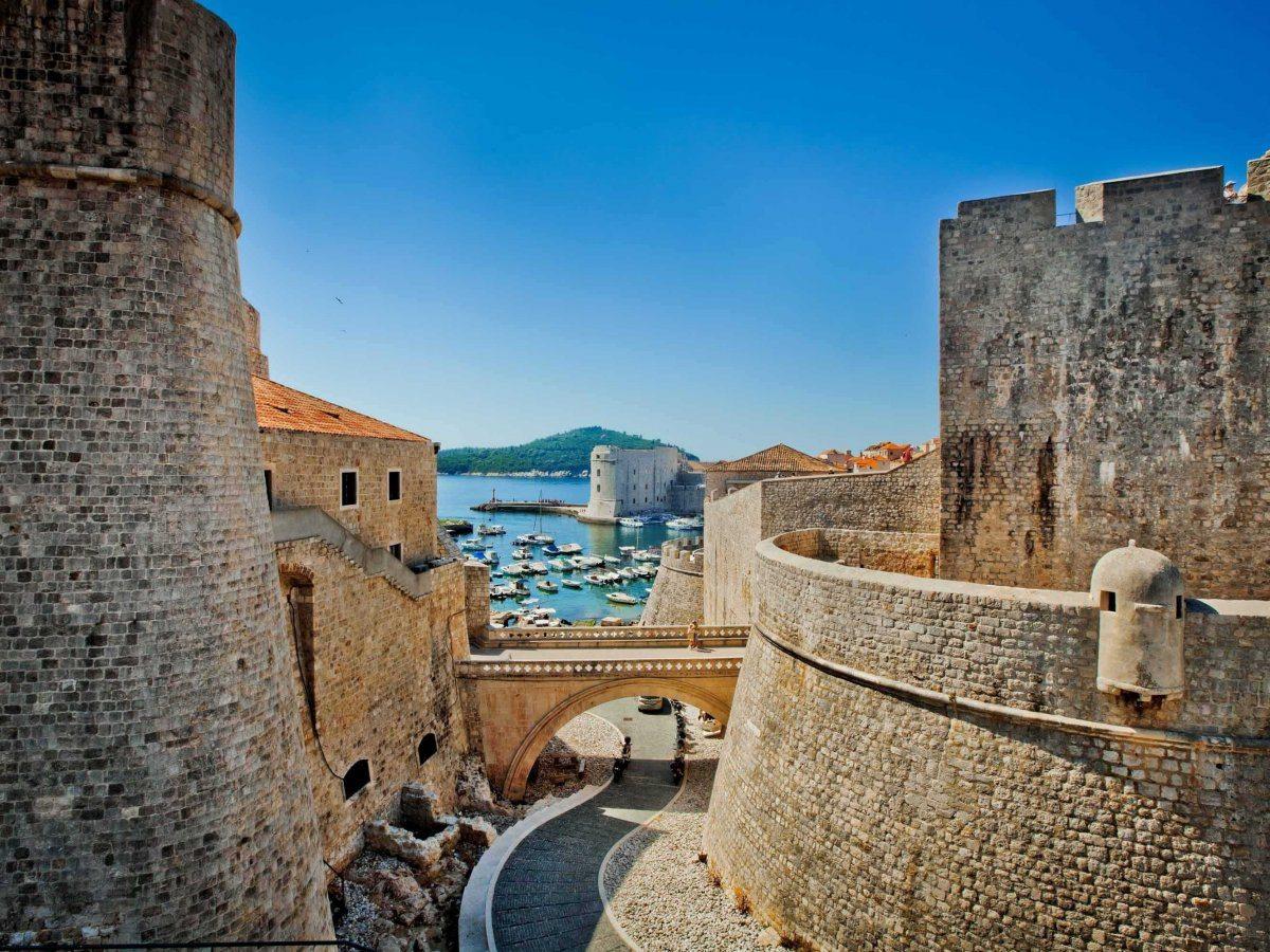 Città fortificata di Dubrovnik in Croatia