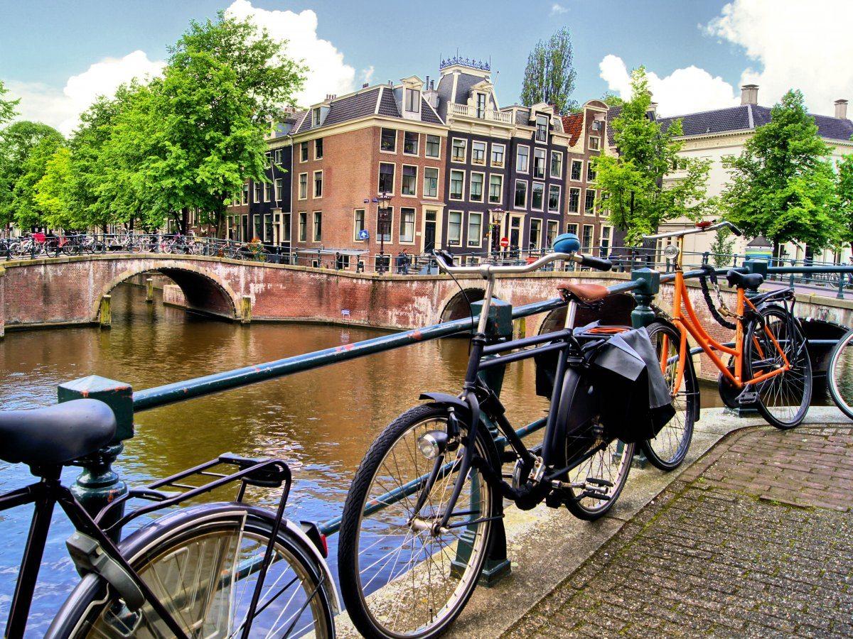 I canali di Amsterdam in Olanda