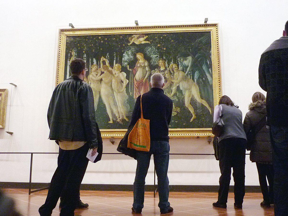 Nascita di Venere e Primavera agli uffizi di Firenze in Italia