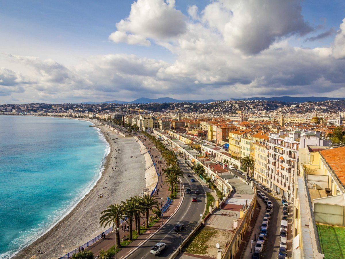 Promenade des Anglais a Nizza in Francia - città europee da visitare