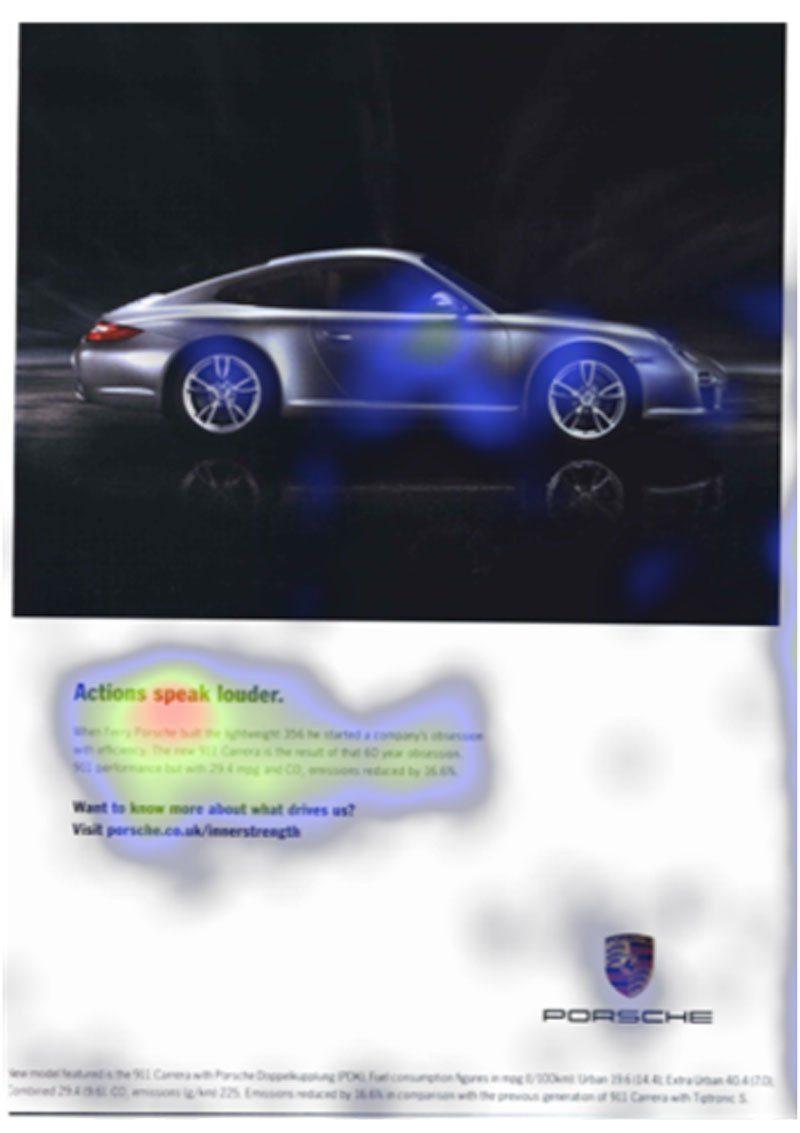 Eye tracking pubblicità stampata Porsche